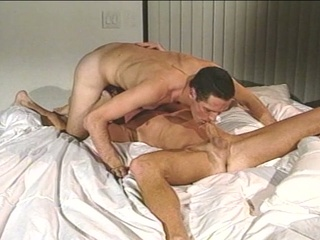 Handsome hunk gets some horny gay ass