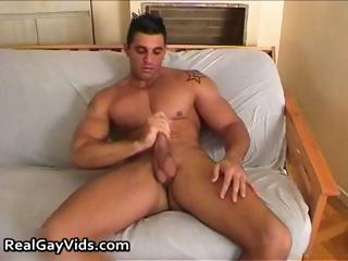 Chris N jerking his with an eye to firm gay cock