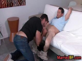 Hairy dude gets his hard gay penus part1
