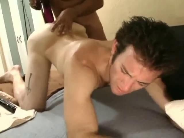 Coarse dark haired gay fella gets a huge dildo adjacent to his tight ass hole