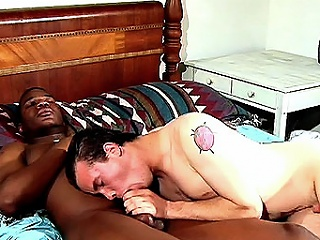 Another hot interracial enlist nearly whole nearly in bed and this time its...