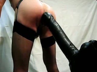 Big dildo 360x80mm anent all directions from anent a hot ass