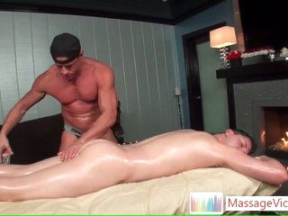 Scottie gets oiled on every side ass rimming