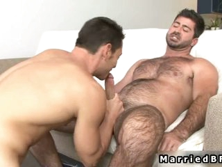 Married alms-man gets cock sucked