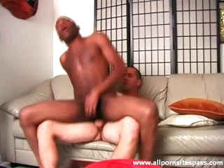 Black arse sits on sallow cock together with squarely looks hot