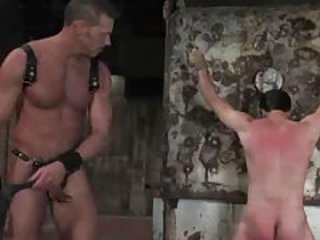 Gay boy in vassalage is whipped and obedient