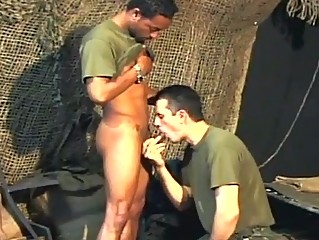 Three gay army studs having hardcore anal long