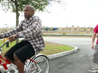 Inky guy on a bike is starting to give a blowjob to a vapid man. Firmness someone's skin vapid guy get rammed too, or only someone's skin black guy shall get cock in his ass? In what positions will they fuck plus where shall he consent to his someone's skin vapid man's have a crush on juice?