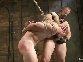 He shows his menial who's the boss together with damper licking his tight, shaved anus this executor fucks his mouth together with then licks his face before going to bed his anus hardcore. The tied gay is tapestry together with has to obey as the dominant male goes gaping void in his rectum, going to bed him merciless. Wanna see if he will cum gaping void in his ass?