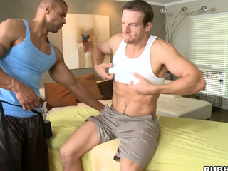 His strong hands are so gentle just about that beefy sickly dick! Awesome!
