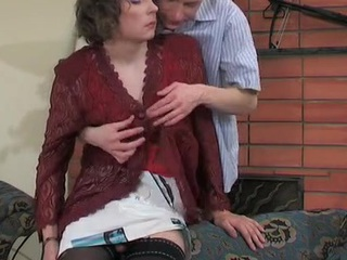 Sultry cissy nearby patterned nylons peels off his petticoat for wazoo fucking frenzy